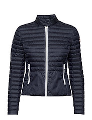 LADIES DOWN JACKET - 068 NAVY BLUE-LIGHT STEE
