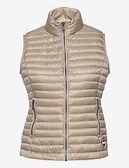 Colmar - LADIES DOWN JACKET - puffer vests - toast-light steel - 0