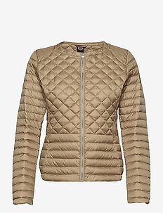 Ladies light down jacket - quilted jassen - beige