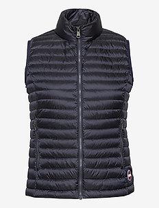LADIES DOWN JACKET - puffer vests - navy blue-light steel