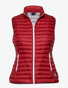 LADIES DOWN VEST - vester - 193 hermes-light steel