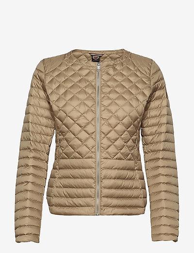 Ladies light down jacket - quilted jackets - beige