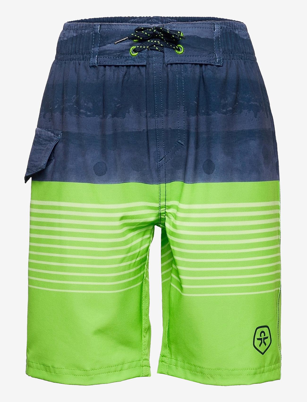Color Kids - Swim shorts striped UPF 30+ - badehosen - jasmine green - 0