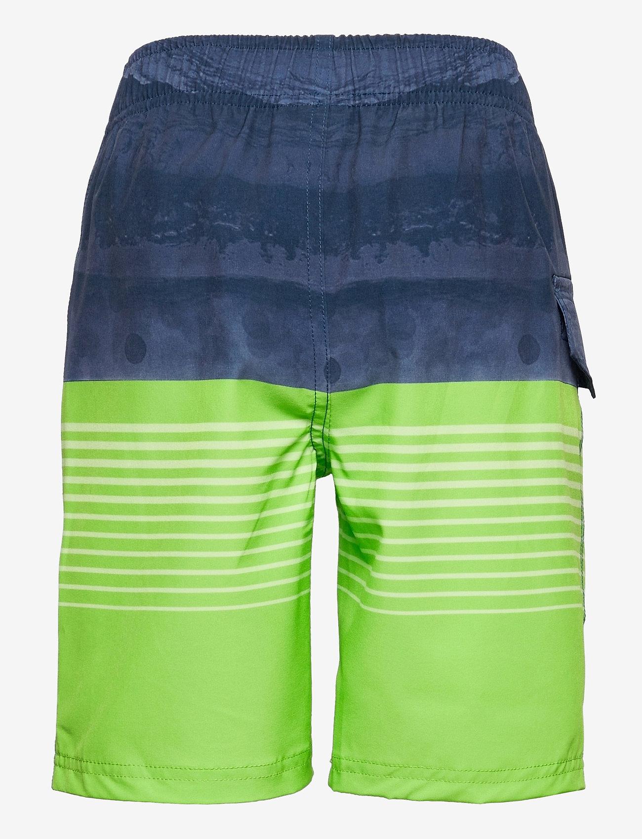 Color Kids - Swim shorts striped UPF 30+ - badehosen - jasmine green - 1