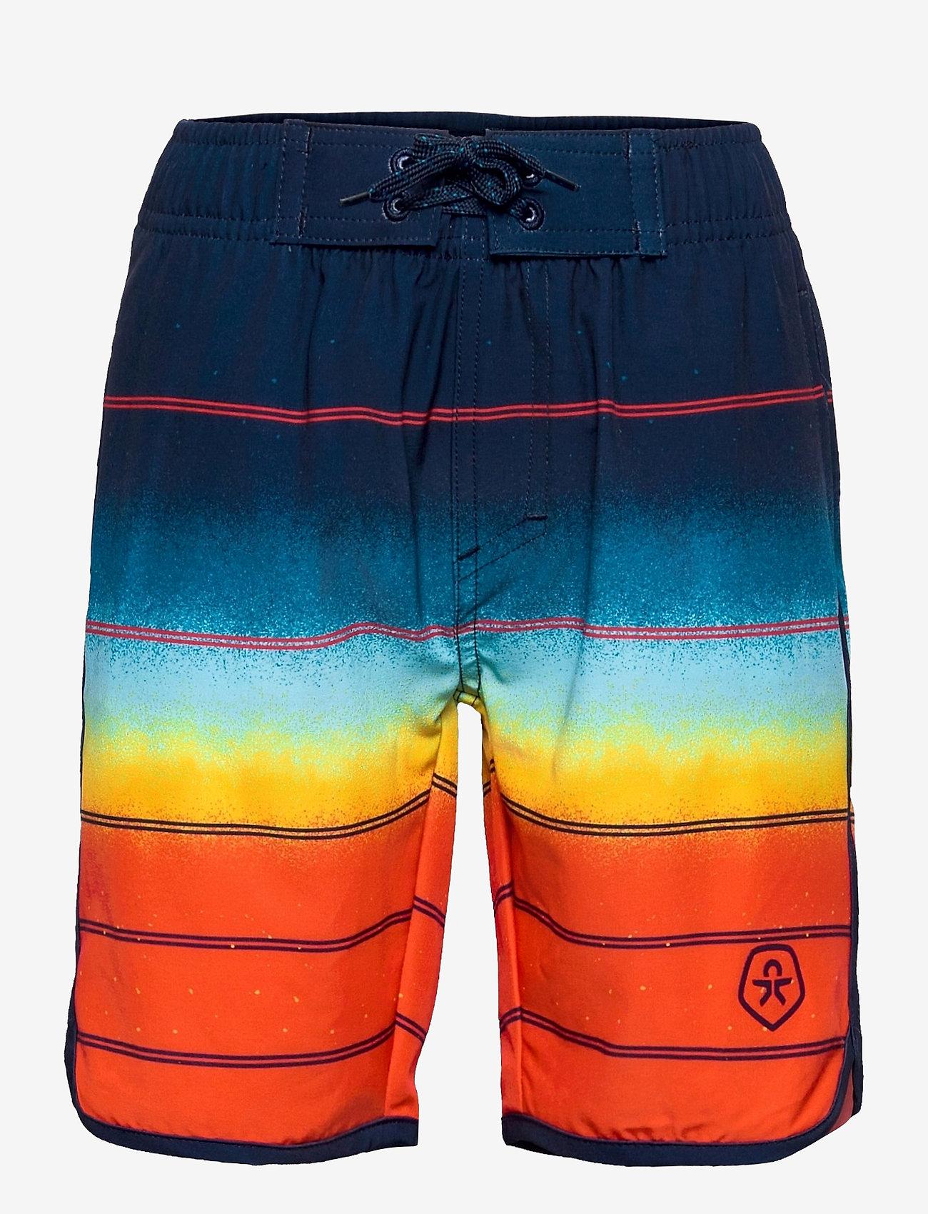 Color Kids - Swim shorts gradient UPF 30+ - badehosen - fire - 0