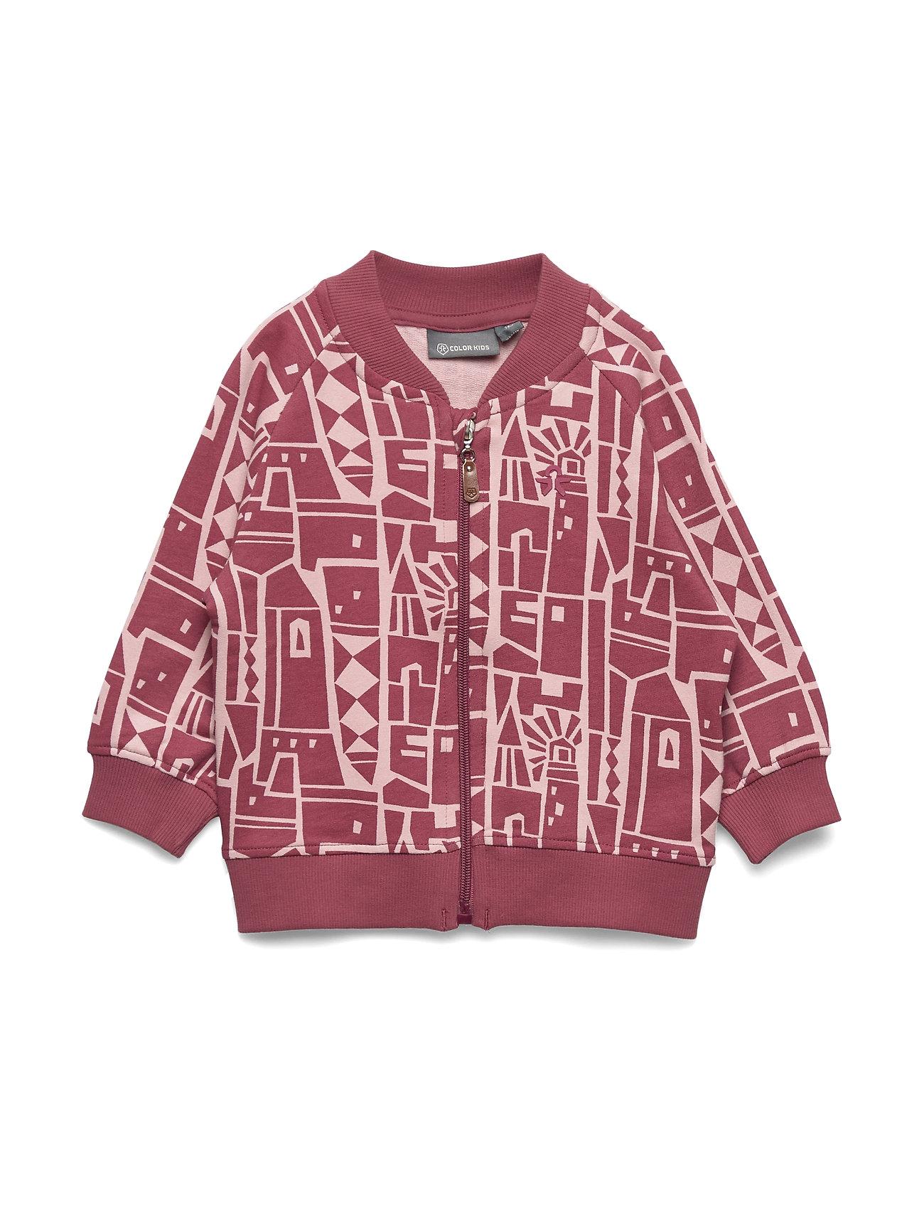 Color Kids Enis mini sweatshirt jacket - MALAGA ROSE