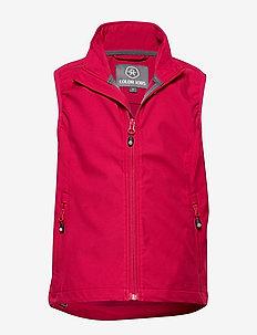 Bajur softshell vest - ciepłe kamizelki - raspberry