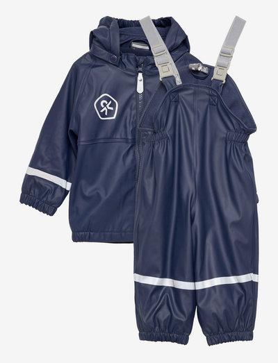 Rain set PU w. fleece lining - regensets und - einteiler - dress blues