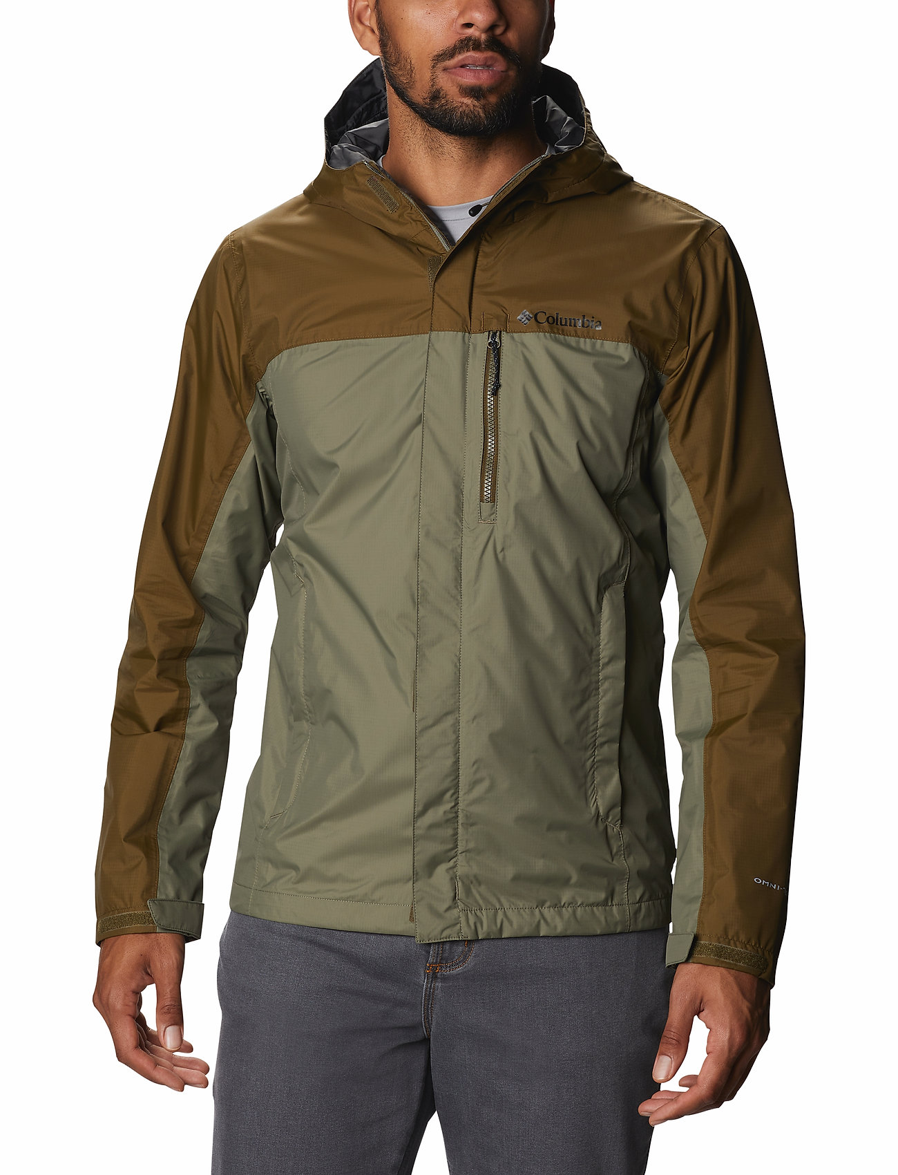 Columbia - Pouring Adventure™ II Jacket - kurtki sportowe - stone green, new olive - 0