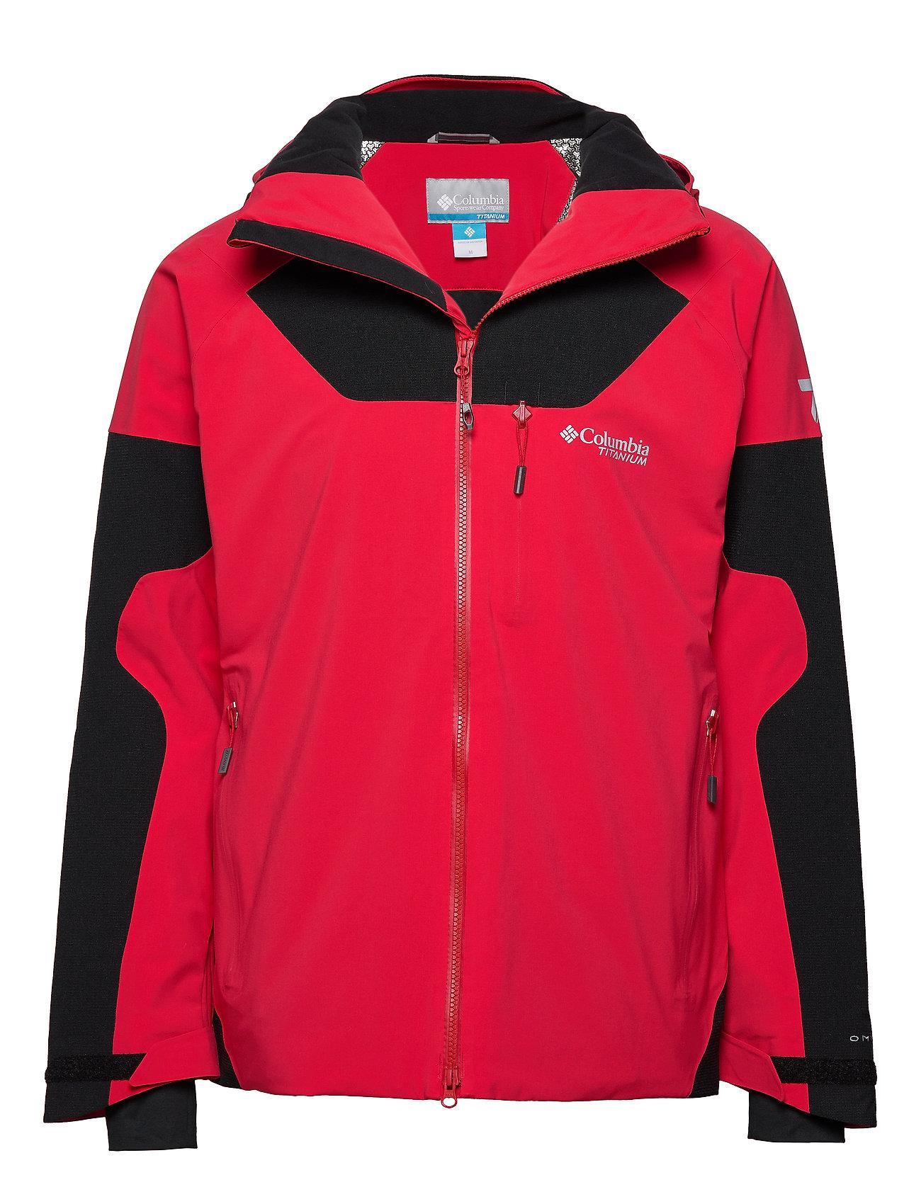 Columbia Powder Keg III Jacket - MOUNTAIN RED, BLACK