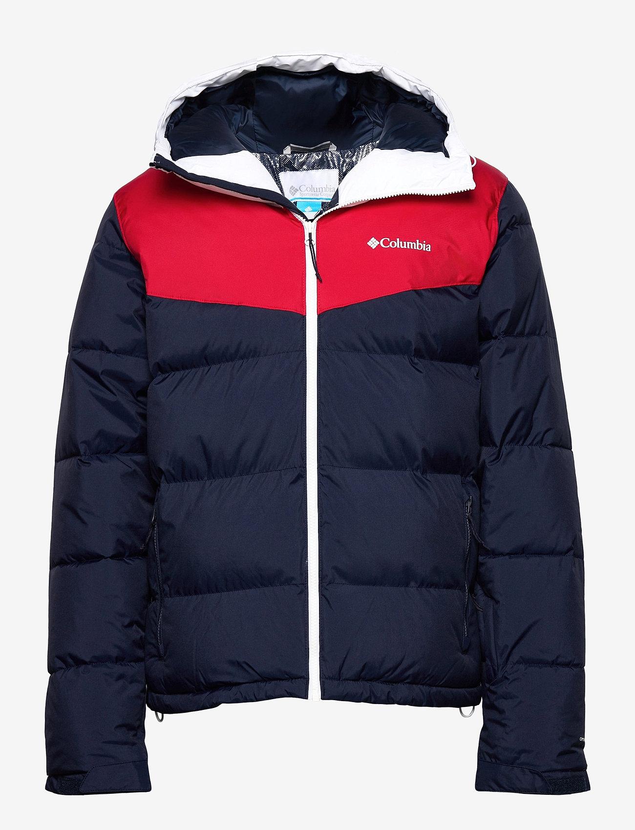 Columbia - Iceline Ridge™ Jacket - kurtki narciarskie - collegiate navy, mountain red, white - 0