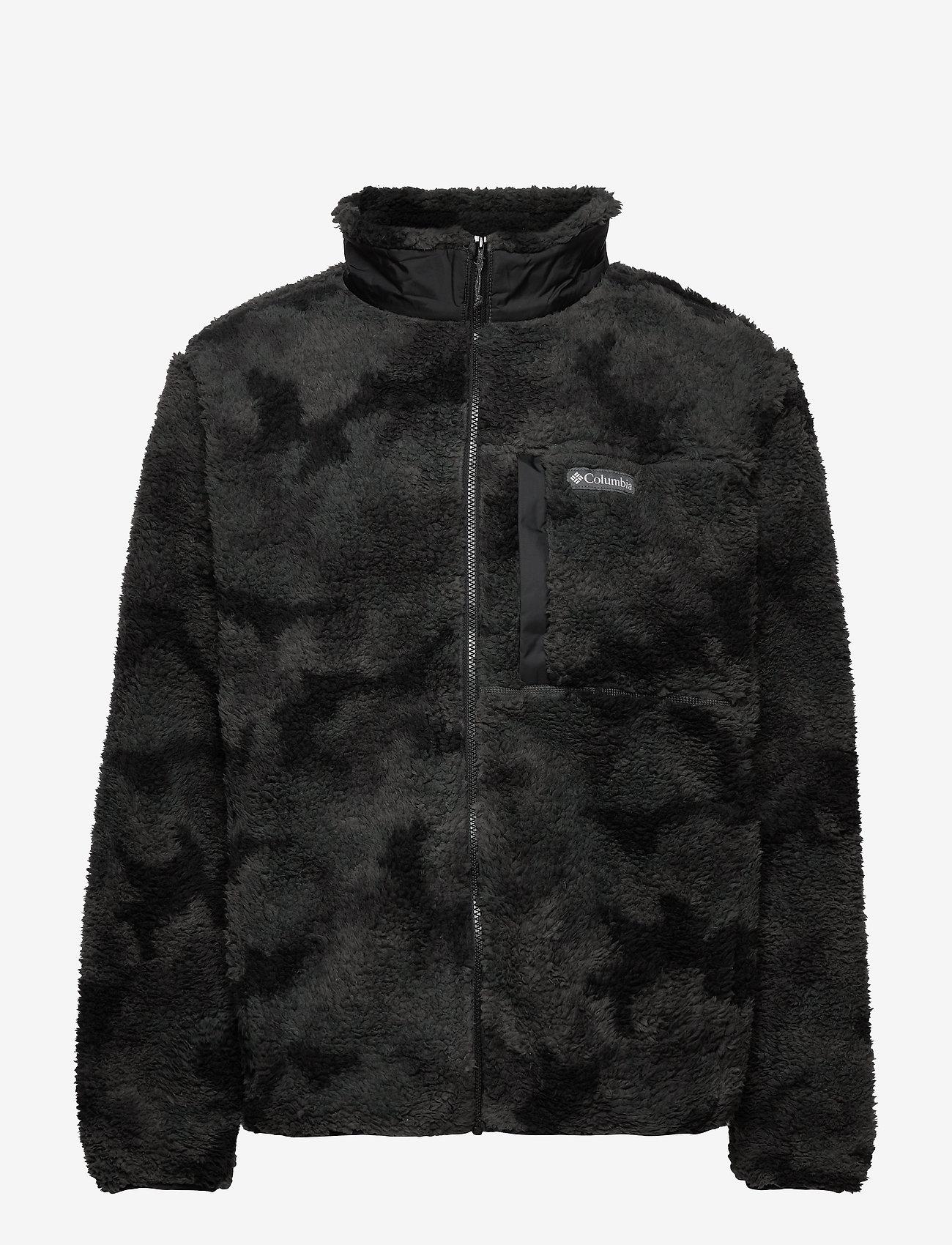 Columbia - Winter Pass Print Fleece Full Zip - swetry pluszowe - black camo - 1