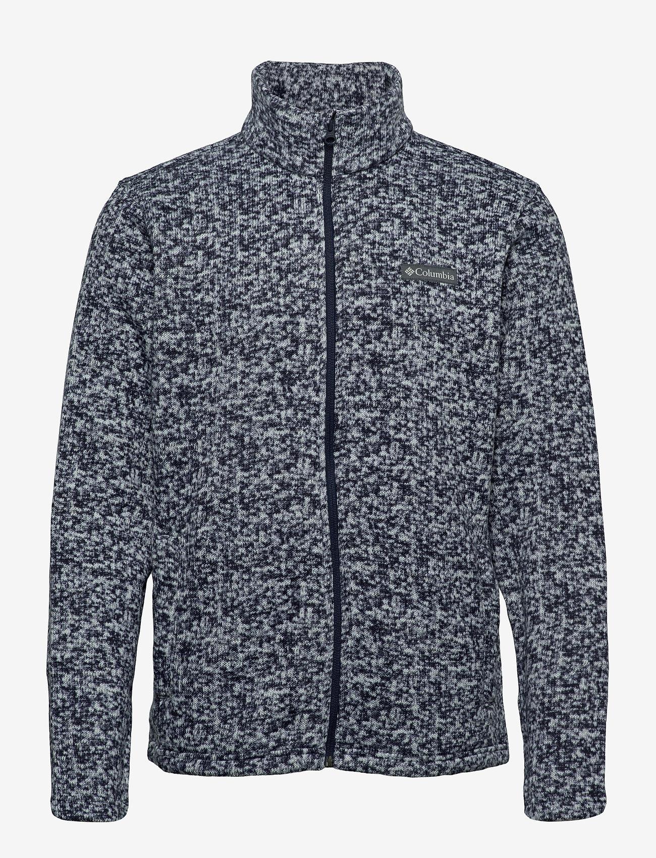 Columbia - M Chillin Fleece - mid layer jackets - collegiate navy scatter - 0