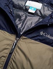Columbia - Pike Lake Hooded Jacket - kurtki pluszowe - stone green, collegiate navy - 9