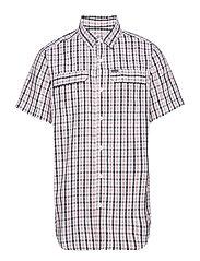 Silver Ridge™ 2.0 Multi Plaid S/S Shirt - BLACK GINGHAM