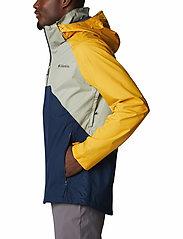 Columbia - Rain Scape Jacket - kurtki turystyczne - safari, bright gold, collegiate navy - 4