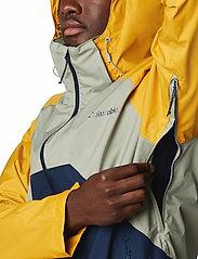 Columbia - Rain Scape Jacket - kurtki turystyczne - safari, bright gold, collegiate navy - 9