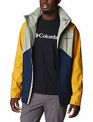 Columbia - Rain Scape Jacket - kurtki turystyczne - safari, bright gold, collegiate navy - 11