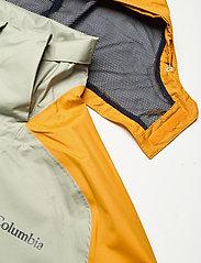 Columbia - Rain Scape Jacket - kurtki turystyczne - safari, bright gold, collegiate navy - 16