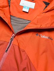 Columbia - Rain Scape Jacket - kurtki turystyczne - bonfire, ancient fossil, dark sienna - 4