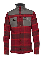 Deschutes River™ Shirt Jacket - RED ELEMENT PLAID