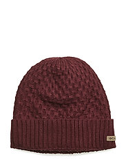 Hideaway Haven™ Cabled Beanie - RICH WINE