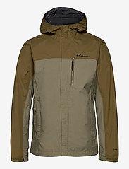 Columbia - Pouring Adventure™ II Jacket - kurtki sportowe - stone green, new olive - 1