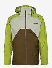 Columbia - Rain Scape Jacket - kurtki turystyczne - safari, matcha, new olive - 0