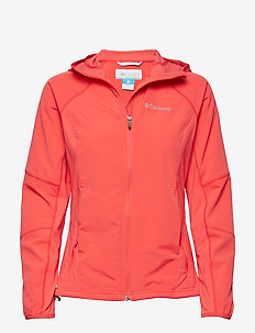 Sweet As™ Softshell Hoodie - RED CORAL