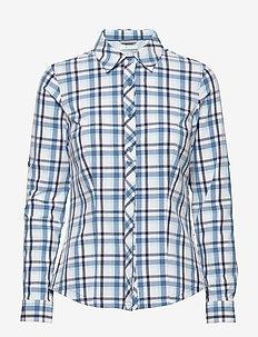 Saturday Trail™ Stretch Plaid LS Shirt - BLUE DUSK PLAID
