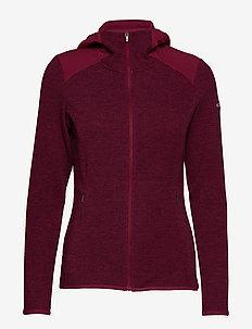 Coggin Peak™ FZ Hooded Fleece - WINE BERRY