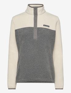 Benton Springs 1/2 Snap Pullover - fleece - city grey heather, chalk