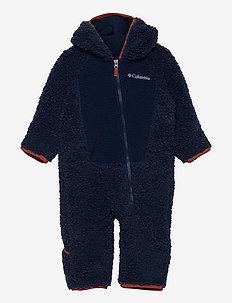 Foxy BabySherpa Bunting - fleece sets - collegiate navy