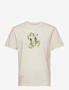 Clarkwall Organic Cotton Tee - t-shirts - natural white frog graphic