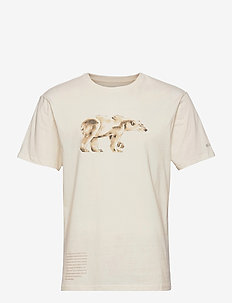 Clarkwall Organic Cotton Tee - t-shirts - natural white bear graphic