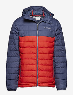 Powder Lite Hooded Jkt - RED SPARK, DARK MOUNTAIN