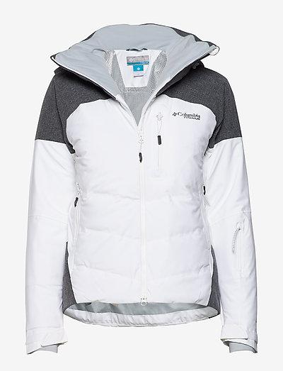 Powder Keg II Down Jacket - kurtki narciarskie - white, cirrus grey