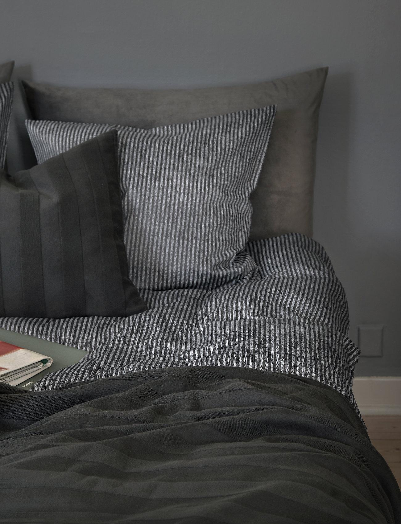 compliments - Raw Stripe 140x200 cm - sengesæt - grey - 1