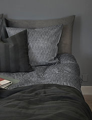 compliments - Raw Stripe 140x220 cm - sengesæt - grey - 1