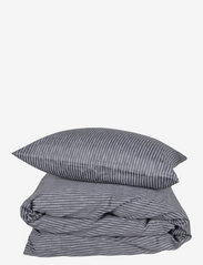 compliments - Raw Stripe 140x220 cm - sengesæt - grey - 0