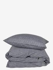 compliments - Raw Stripe 200x220 cm - sengesæt - grey - 0