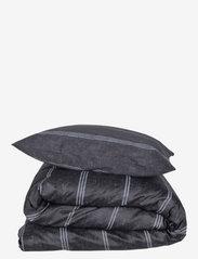 compliments - Raw Lane 140x220 cm - sengesæt - dark grey - 0