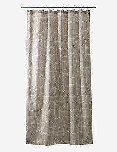 Mosaic shower curtain w/eyelets - douche gordijnen - sand