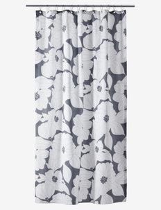 Flora Shower curtain w/eyelets - douche gordijnen - grey