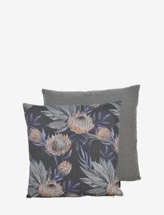 Protea 50x50 cm 2-pack - kussenovertrekken - black