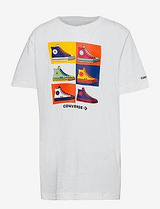 CNVB POP SRT SNEAKER TEE - kortærmede t-shirts - white