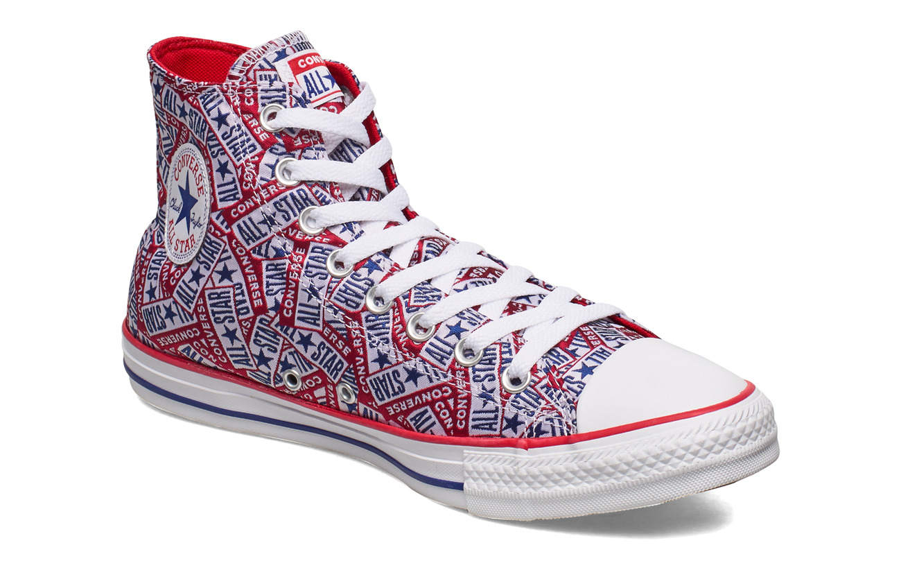 Converse CTAS HI UNIVERSITY RED/WHITE/RUSH BLUE - UNIVERSITY RED/WHITE/RUSH BLUE