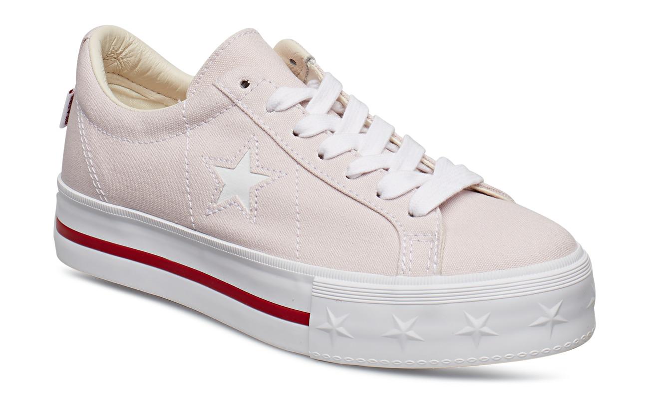 Converse ONE STAR PLATFORM OX - CHERRY BLOSSOM/WHITE/GYM RED
