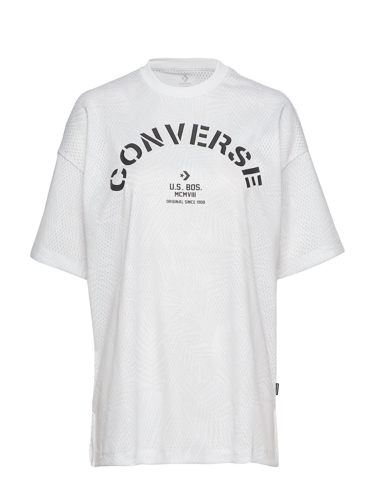 Converse Converse Areca Palm Mesh Boxy Tee - WHITE