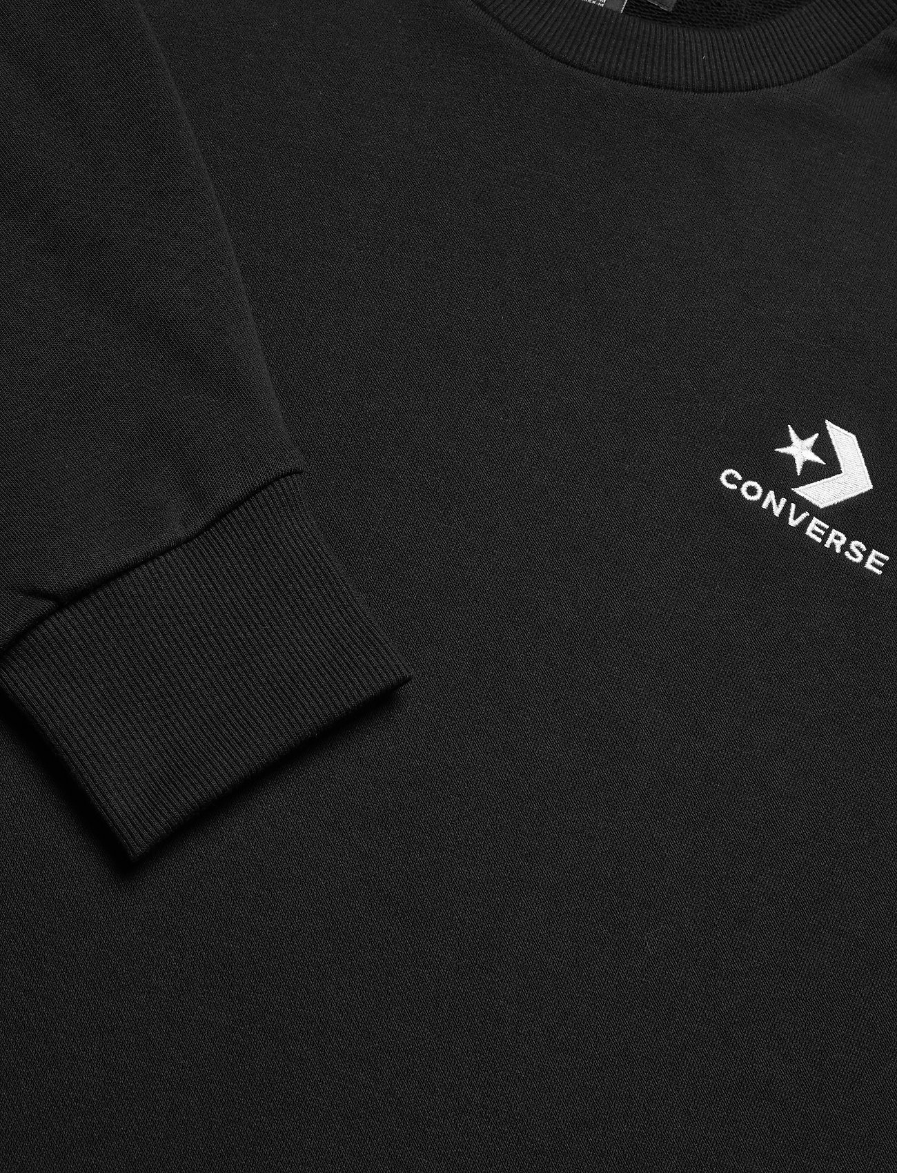 Converse Star Chevron Emb Crew Ft Black - Sweatshirts